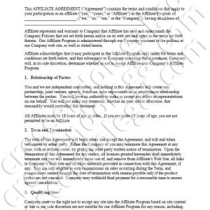 PDF: Affiliate Agreement