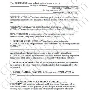 PDF: Content Creation Agreement