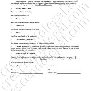 PDF: Independent Contractor Agreement