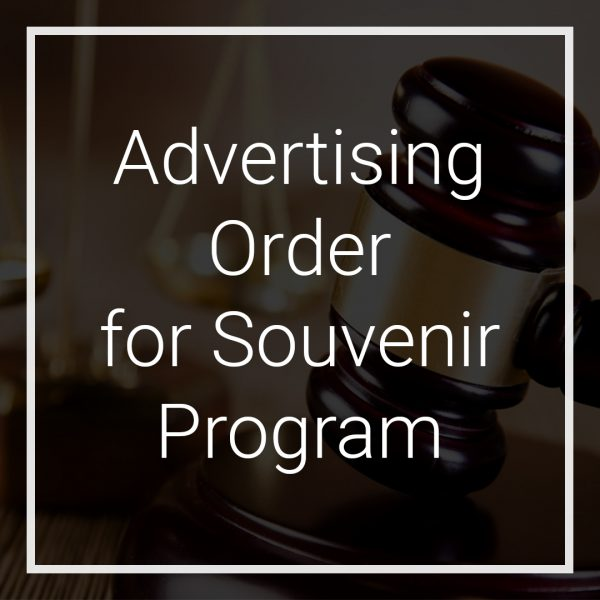Crescendo Legal | Advertising Order for Souvenir Program